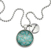 BOHO Collection - Vintage Silver 'BREATHE' Necklace - Tranquil (11312)