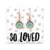 BOHO Collection - So Loved - Stainless Steel Rose Gold Dangle Earrings - Tranquil (9302)