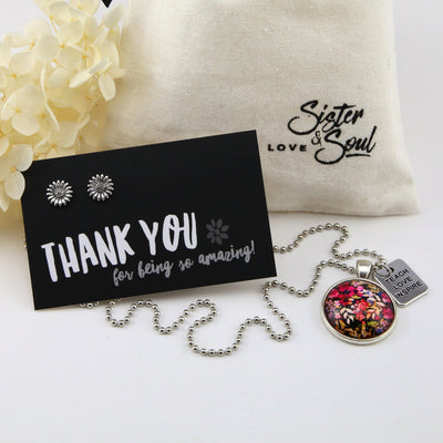 Floral & Silver TEACH LOVE INSPIRE Gift Bundle - (S11)