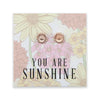 Wildflower Collection - You Are Sunshine - Sunflower Earring Studs - Rose Gold (8607-F)