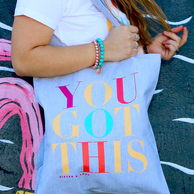 You Got This - Canvas Tote Bag - Grey