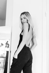 Positano Black Low Back Bodysuit - Christina Leonor,  - Christina Leonor