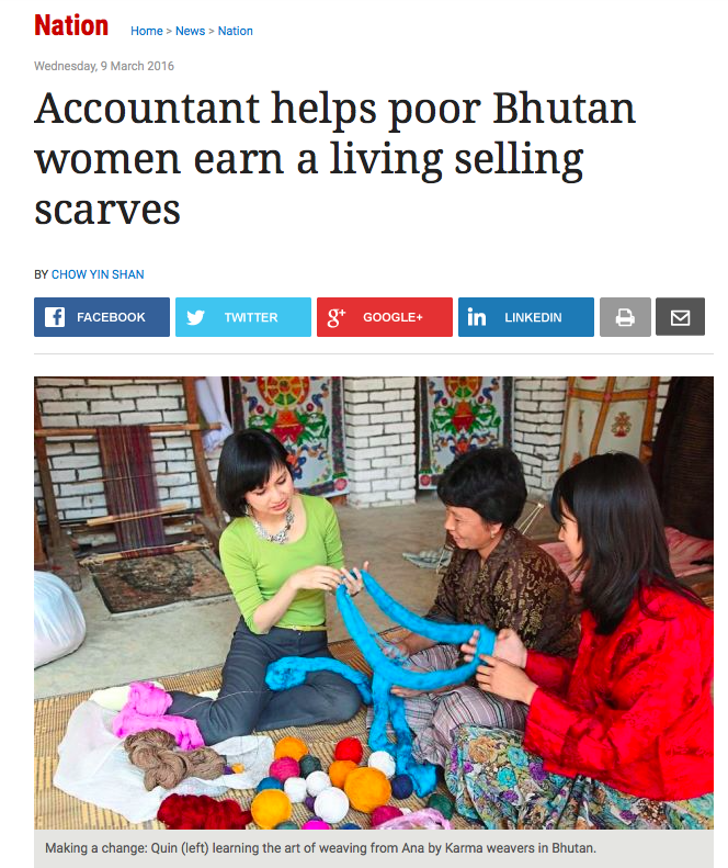 Star Newspaper Malaysia featuring Ana by Karma Bhutan