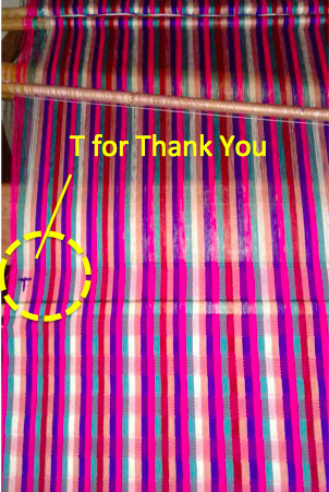 T for Thank You - a Bhutan weaver's gratitude