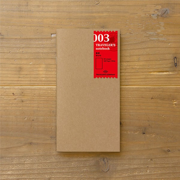 Traveler's Notebook Refill 003 - Blank Regular Size