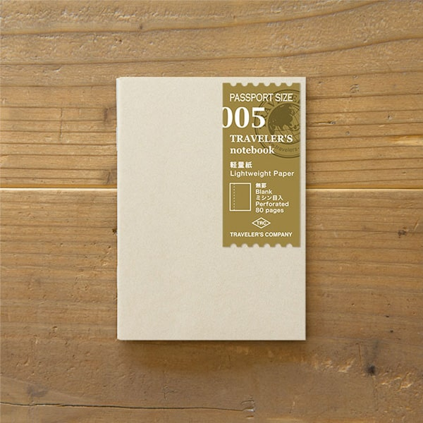 Traveler's Notebook Refill 005 - Lightweight Paper Passport Size