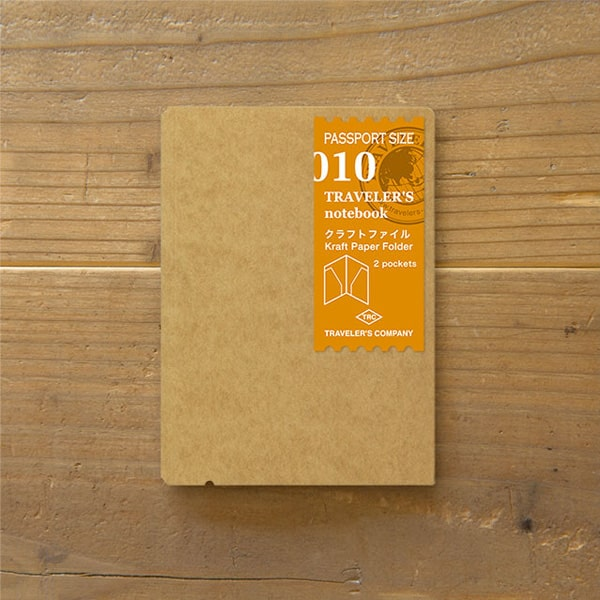 Traveler's Notebook Refill 010 - Kraft File Passport Size