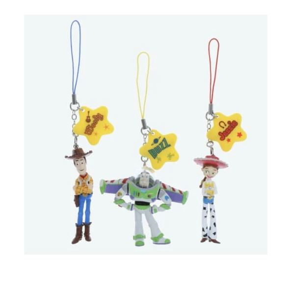 Tokyo Disney Resort Key Chain Strap Set Woody Buzz Jessie Toy Story