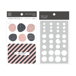 Craft Mu Series Print On Stickers Pink Oval Shapes