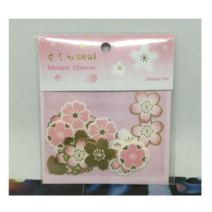 Sakura Seal Flake Sticker - Pink