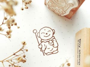 Biksu / Monk Stamp - Kodomo No Kao - Tiny Stamp Series