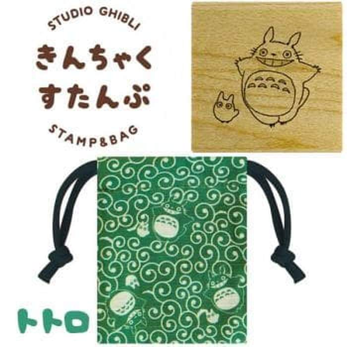 Totoro Rubber Stamp with Pouch, Ghibli