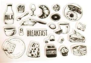 Clear Stamp Moodtape Breakfast