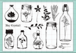 Clear Stamp Moodtape Bottled Plant