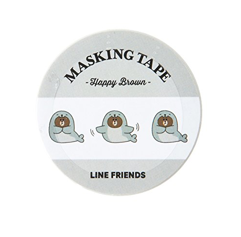 Line Friends Happy Brown Masking Tape