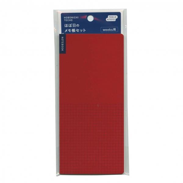 Hobonichi Techo Notebook Weeks Red