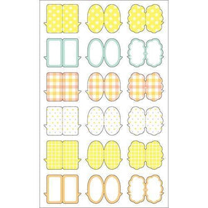 Sticker Index Seal Yellow Comment Shape