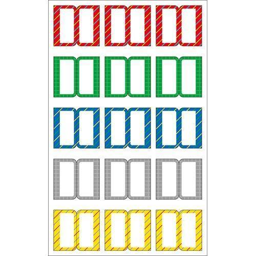 Sticker Index Seal Red Shape