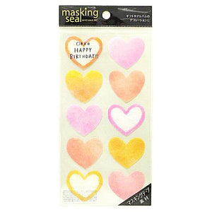 Sticker Masking Seal Red Love Shape