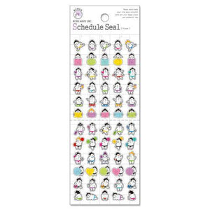 Sticker Schedule Seal Sumo Character - Frame