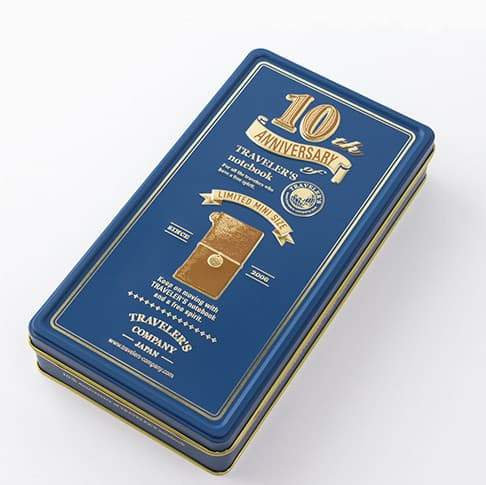 Midori Traveler's Notebook 10th Anniversary Can Set Mini Limited