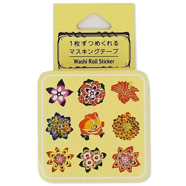 Bande Washi Roll Sticker Bingata Flower