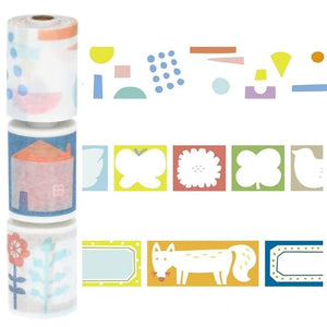 Maste Washi Masking Tape Flower Pattern