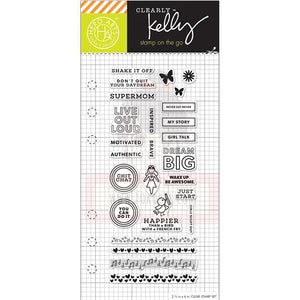Hero Arts Clear Stamp - Kelly's Girl Talk Planner