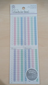 Sticker Schedule Seal Pink Tape with Dot - Vertical