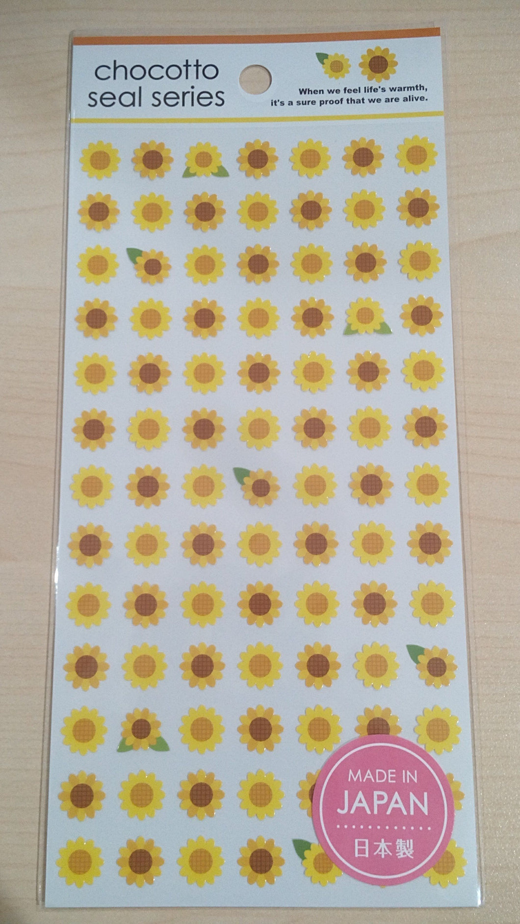 Sticker Chocotto Seal Series Sun Flower