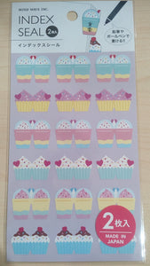 Sticker Index Seal Cup Cake 2 Pics