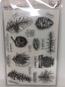 Moodtape Pinecone Clear Stamp Set