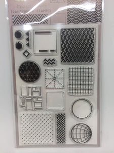 Moodtape Geometry Clear Stamp Set