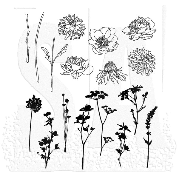 Tim Holtz Cling Rubber Stamps Mini Bouquet