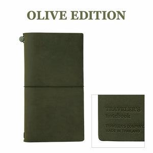 Traveler's Notebook Olive Edition Regular Size Leather Cover LIMITED 2017