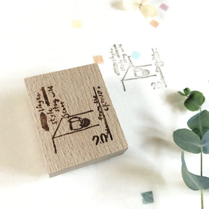 Emma Yeon Coffee Cup Rubber Stamp