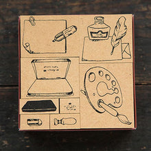 OURS Stationery No.1 Rubber Stamps Set