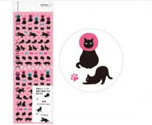 Sticker Cat - Midori Seal Collection Planner Stickers - Black Cat
