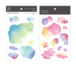 Craft Mu Series Print On Stickers Rainbow Watercolor