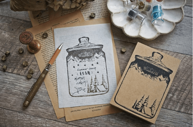 Lihaopaper Stamp - Bottle World For Summer Camping