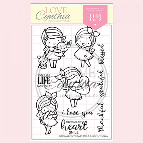 Love Cynthia Clear Stamp - You Make My Heart Smile