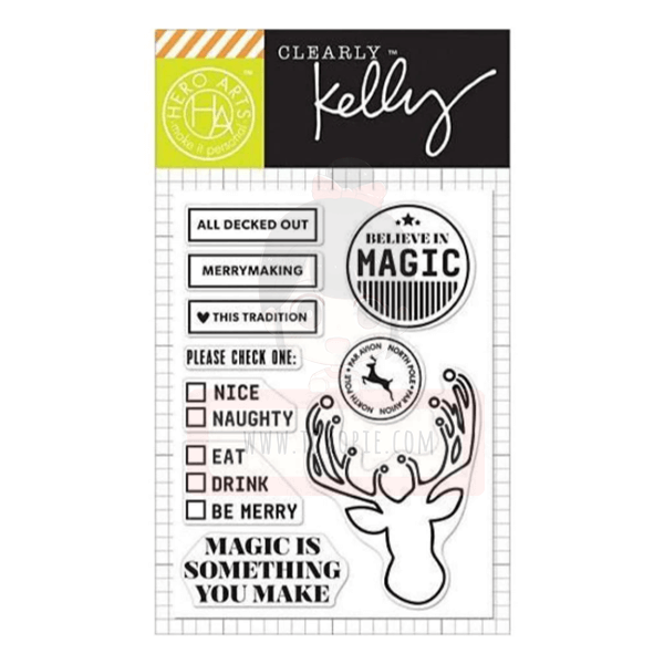 Hero Arts Clear Stamp - Kelly's All Decked Out