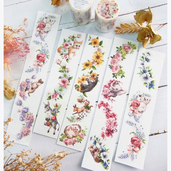 Maruco Art Masking Tape Animal Garden