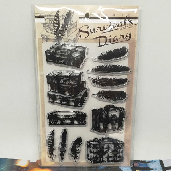 Clear Stamp Survival's Diary Luggage
