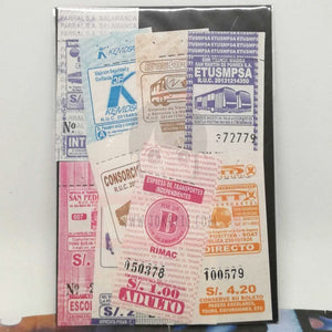 Spanish Bus Vintage Ticket C