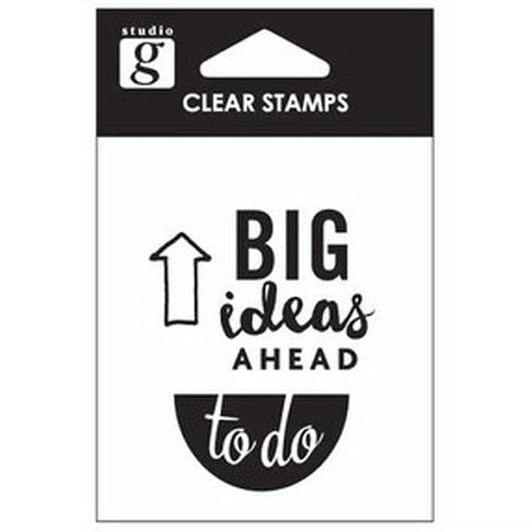 Studio G Clear Stamp - Big Ideas Ahead