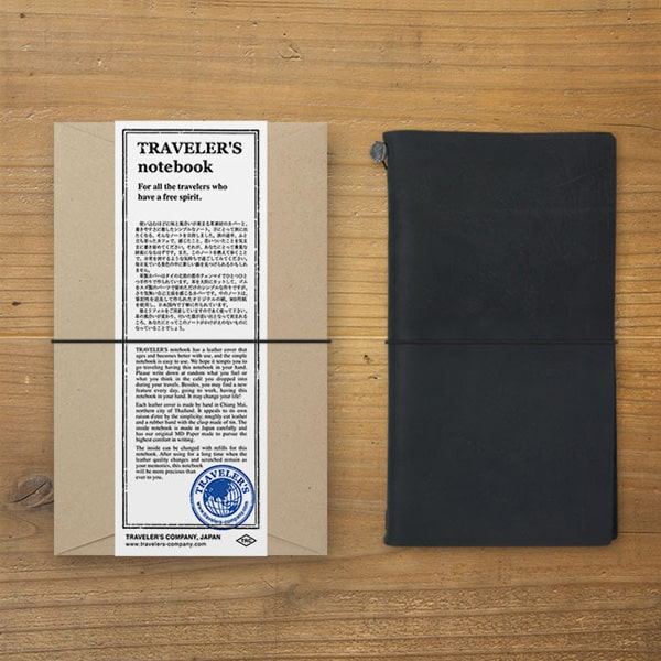 Traveler's Notebook Regular Size Leather Cover Starter Pack Set