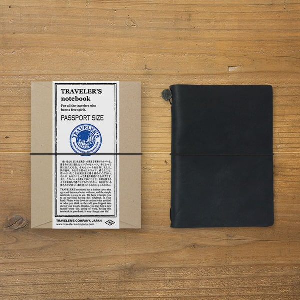 Traveler's Notebook Leather Cover Starter Pack Set Passport Size
