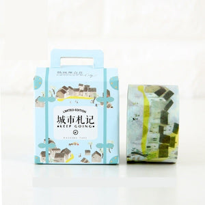 Miss Time Masking Tape Limited Edition - City Houses