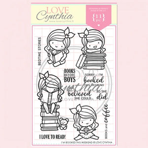 Love Cynthia Clear Stamp - I'm Booked This Weekend